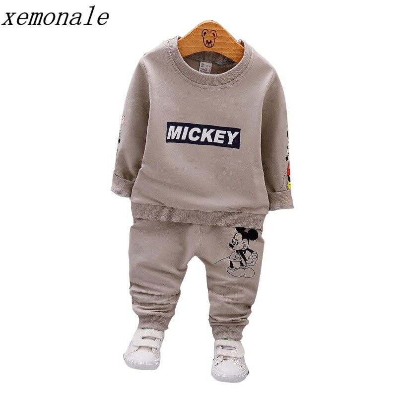Frühling Herbst Baby Jungen Kleidung Volle Hülse T-shirt Und Hosen 2 stücke Baumwolle Anzüge Kinder Kleidung Sets Kleinkind Marke Trainingsanzüge