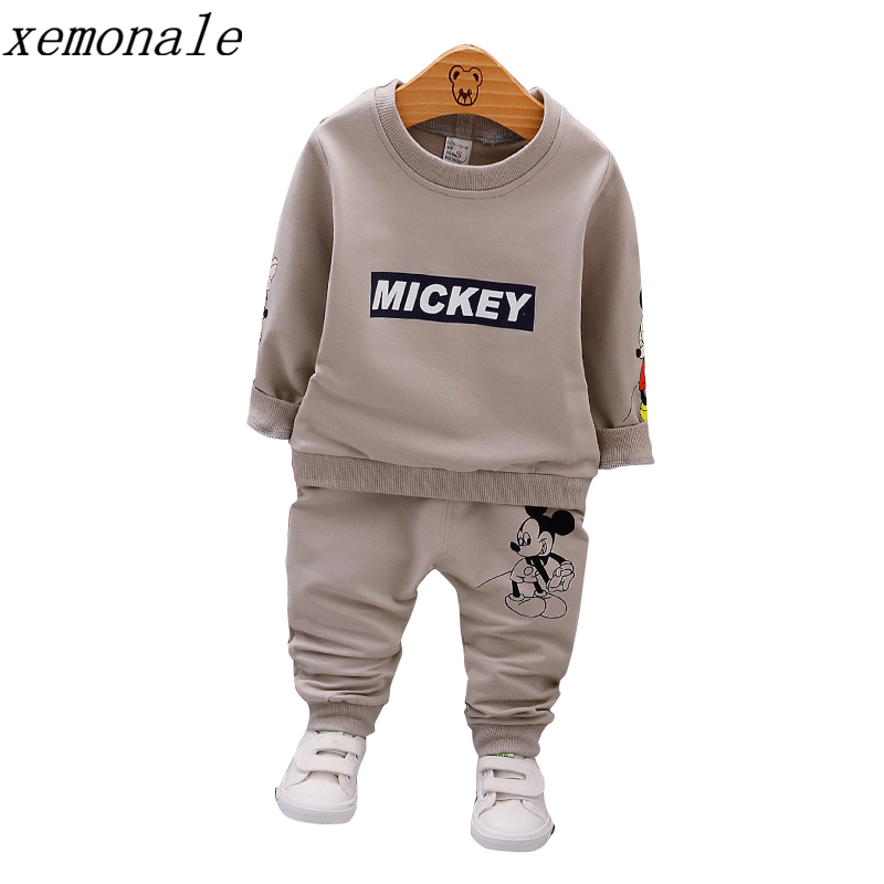 Spring Autumn Baby Boys Clothes Full Sleeve T-shirt And Pants 2pcs Cotton Suits Children Clothing Sets Toddler Brand Tracksuits 2017 new cartoon pants brand baby cotton embroider pants baby trousers kid wear baby fashion models spring and autumn 0 4 years