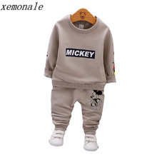 Spring Autumn Baby Boys Clothes Full Sleeve T-shirt And Pants 2pcs Cotton Suits Children Clothing Sets Toddler Brand Tracksuits(China)