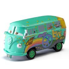 Disney Pixar coches Fillmore autobús Rayo McQueen Mater Jackson tormenta 1:55 fundición de aleación de Metal modelo juguetes para niños de regalo