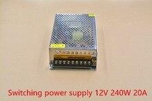 Один выход регулируемый 240 Вт 12 В 20A LED мониторинга лампа с Модулем для чпу diy импульсный источник питания 1 шт.