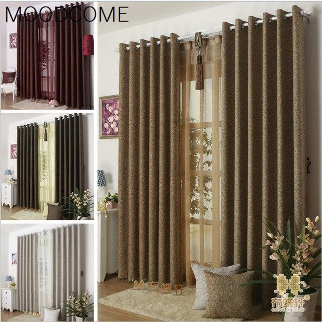Cortinas para sala de estar comedor dormitorio lino color puro de ...
