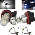 Super White 140 W 28SMD Chip H11 LED Luz de Niebla Del Coche de Conducción Drl Bombillas + de Canbus Decoder Resistencia para Audi A4 b7, b8 faros de niebla