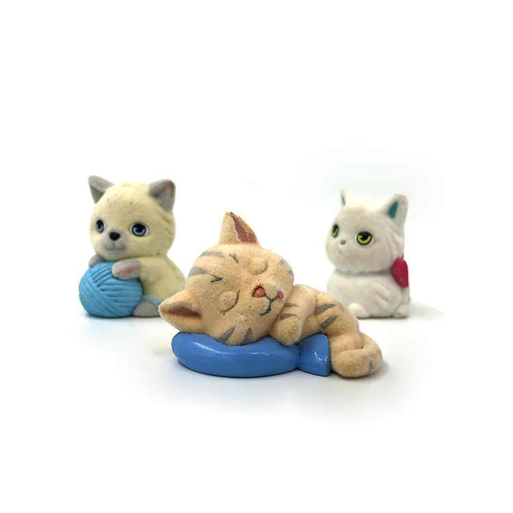 5 Pcs Reunindo Gato Animal Cão Simulação Pet Ornamentos Boneca de Brinquedo Figura de Ação caixa de Coleta de Brinquedos Boneca de Presente para o Natal New ano GYH