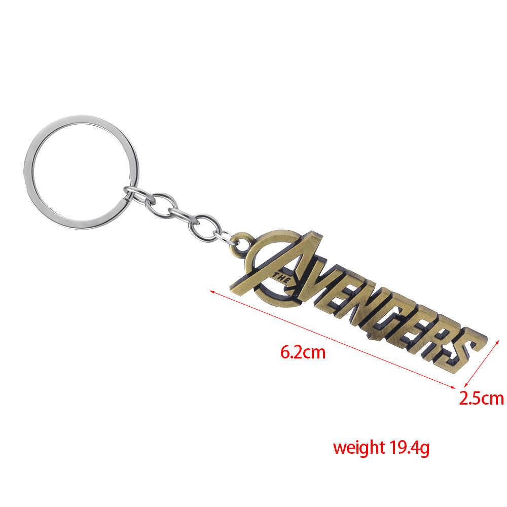 Avengers 4 Endgame Logo Gantungan Kunci Pria Mobil Wanita Liontin Logam Keying