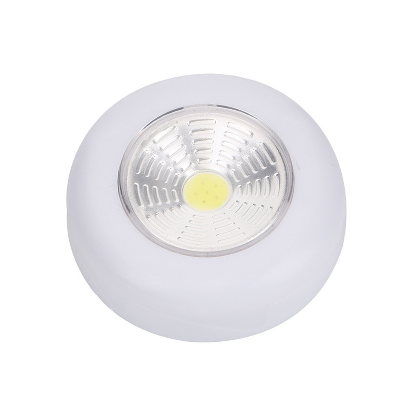 1pc hot led night light touch lamp round cabinet lamp study pat lamp emergency light Pearl white 2w