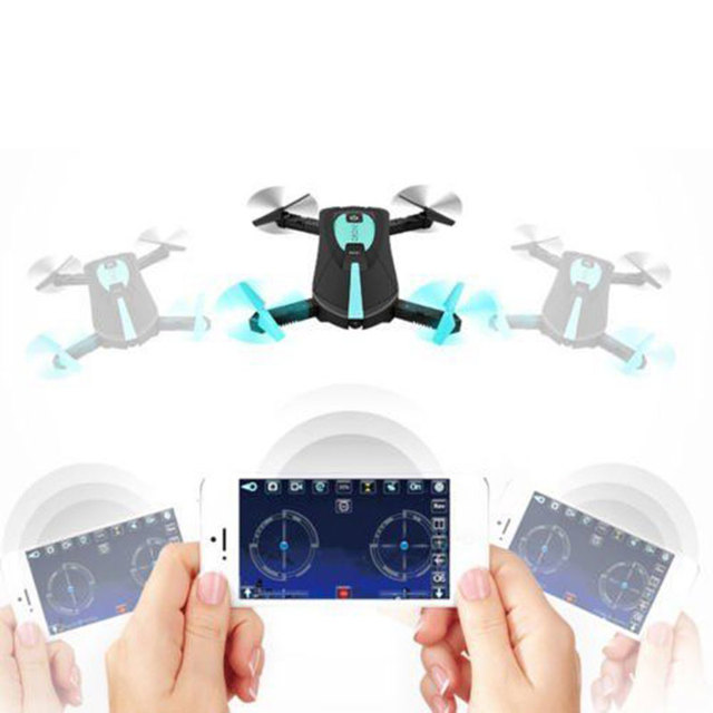 JY018 Foldable Selfie RC Helicopter Drone 2.4G Wifi FPV Mini Drones for kid 720P HD Camera One Key To Auto-Return RC Quadcopter