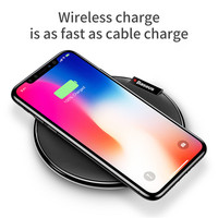 Baseus Desk Fast QI Wireless Charger For IPhone X 8 Charging Hloder Base With Micro USB