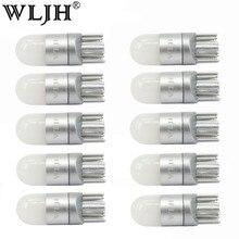 WLJH 10x T10 W5W светодиодный ламповый светильник 3030 SMD автомобильный купол для салона автомобиля парковочные огни номерного знака лампы без полярности универсальные