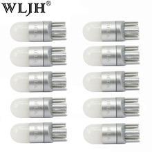 Wljh 10x t10 w5w led 전구 빛 3030 smd 자동차 자동 인테리어 돔 주차 조명 번호판 램프 전구 무극성 유니버설