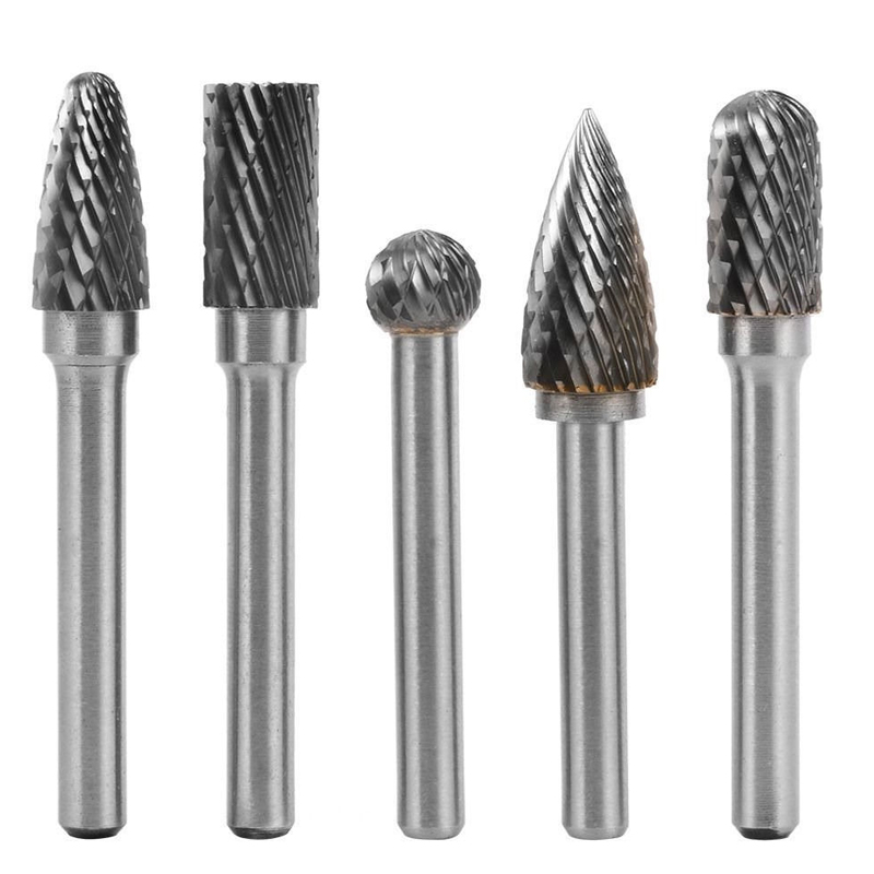 8pcs 6 10 12mm Tungsten Carbide Rotary Point Burr Die Grinder 1//4/'/'  Shank Set