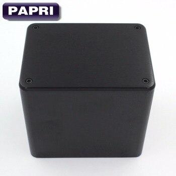 цена на PAPRI 1PCS 130*100*116MM Black Aluminum Silver Audio DIY Transformer Protect Cover Enclosure For HIFI Audio Tube Amplifier