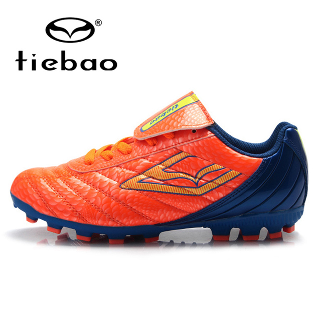 TIEBAO Professional Outdoor Sport Soccer Shoe Teenagers Training Football Cleats Children Kids FG & HG & AG Soles Football Boots