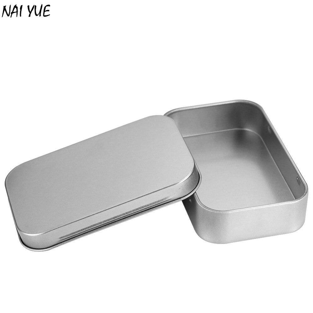 2017 NAI YUE Best Selling Small Empty Silver Flip Metal Storage Box Case  Organizer Food Box