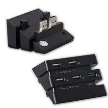 Ekstra USB Hub PS4 Pro aksesuarları 5 port USB 3.0 + 2.0 genişletme Hub denetleyici şarj adaptörü PS4 pro oyun konsolu