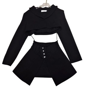 Image 5 - TWOTWINSTYLE Casual Solid Blazer Women Lapel Long Sleeve High Waist Slim Button Female Clothes Fashion 2020 Spring New Tide