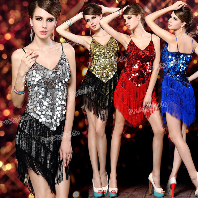 1671ef14f1ec 2015 Free shippingWomen's 1920s Sequin Fringe Sway Gatsby Flapper Costume  Dance Dress