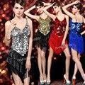 Vestido, shippingwomen ' s 1920 s de lentejuelas Fringe Sway Gatsby Flapper baile de disfraces