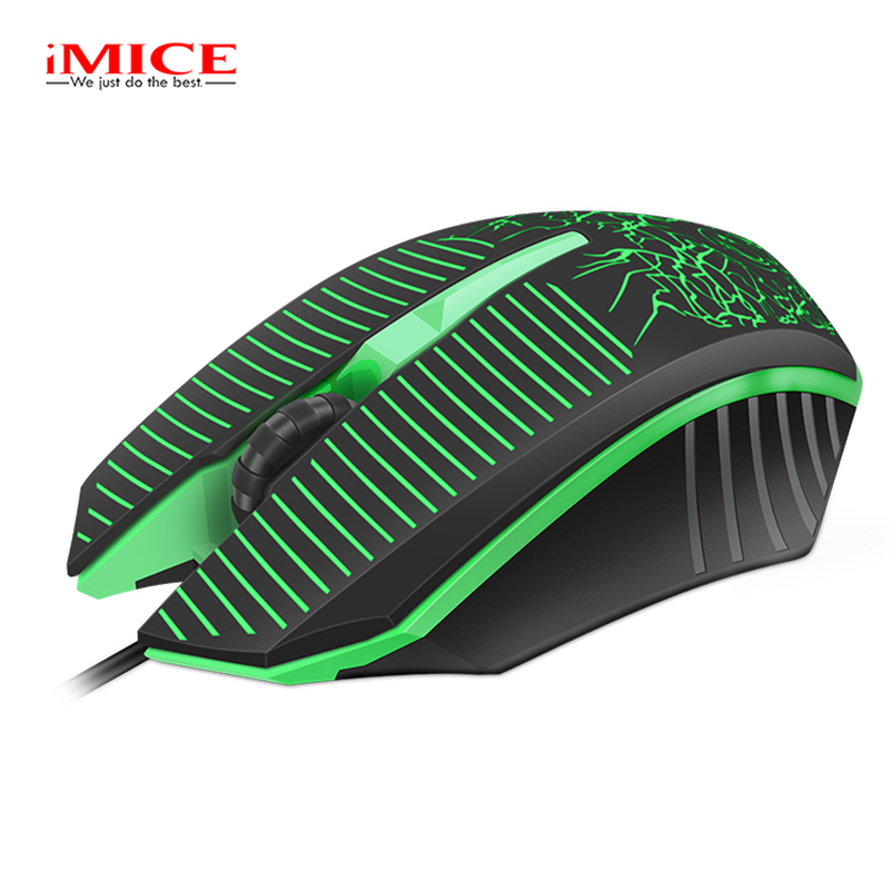 IMICE 1600DPI Computer Overwatch Gaming Wired USB Mouse Ergonomics Electronic LED Professional Mice for Gamer Pro LOL DOTA2