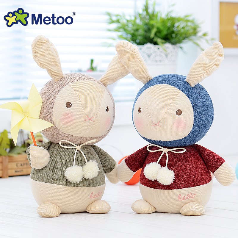 7.9 Inch Plush Cute Stuffed Brinquedos Baby Kids Toys for Girls Birthday Christmas Gift Bonecas knitting Wool Rabbit Metoo Doll 7inch free shipping stiched stuffed animalsl christmas gift the pendant goods for creativity brinquedos kids