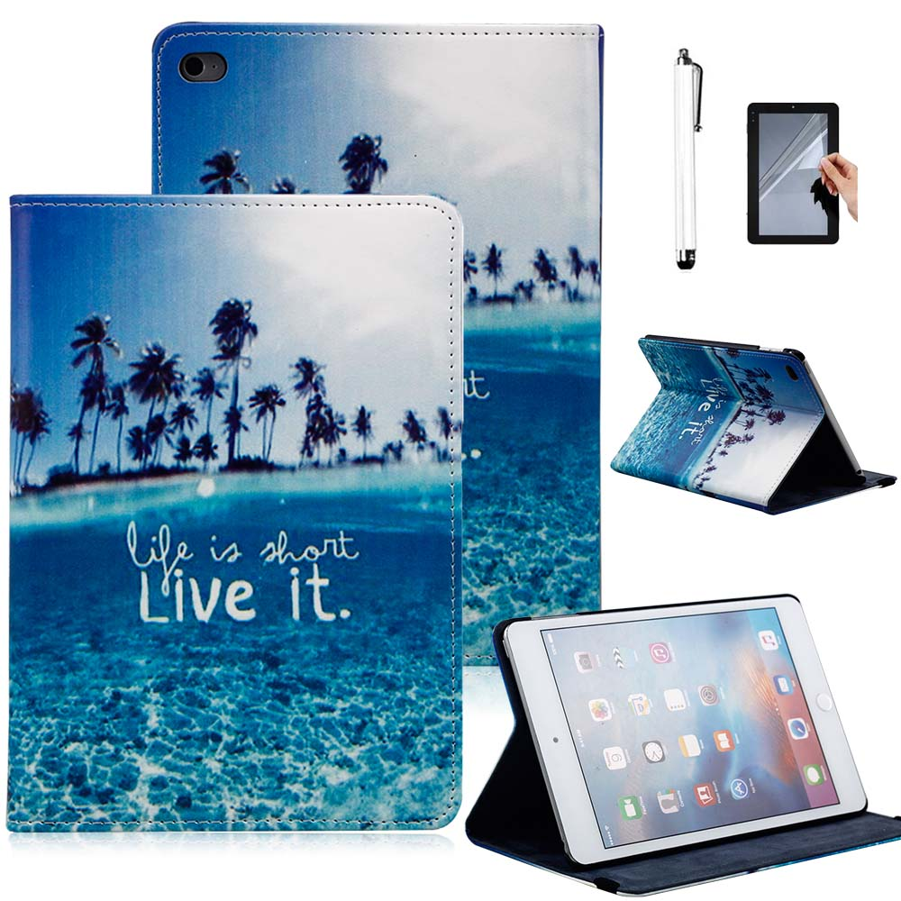 Fashion Tablet Case Cover For Apple iPad Air 2 (iPad 6) Flip Stand PU Leather Print Protective Case Cover Skin Shell Funda