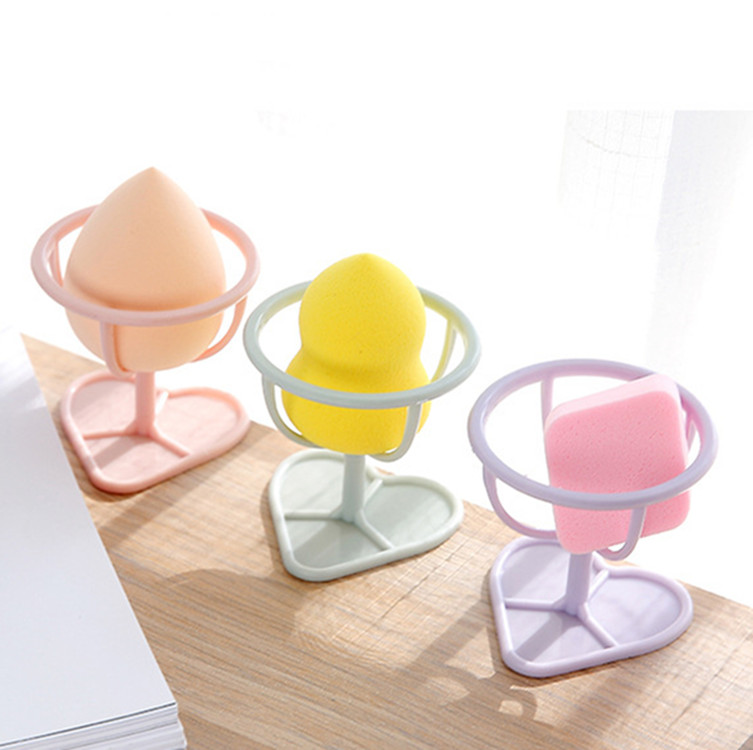 Cosmetic Puff Lovely 1pc New 4 Color Makeup Sponge Gourd Powder Puff Rack Powder Puff Bracket Box Dryer Organizer Beauty Shelf Holder Tool