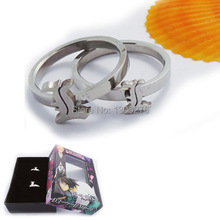 Death Note Stainless steel rings lovers Rings Set of 2pcs box