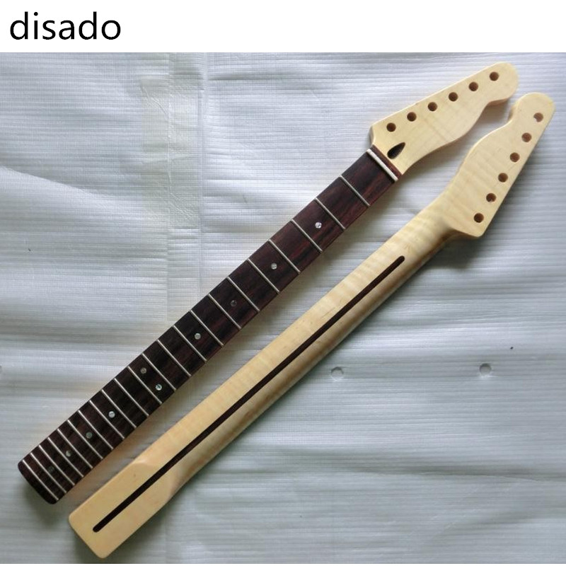 disado 22 Frets Tiger flame material maple Rosewood fingerboard Electric Guitar Neck Guitar Parts accessories disado 24 frets maple electric guitar neck rosewood fingerboard guitar parts accessories