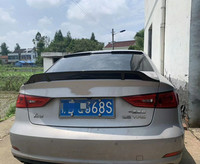For Audi A3 Spoiler R style ABS Plastic Unpainted Tail Wing Primer Color Rear Spoiler 2014 2015 2016 2017 2018 2019