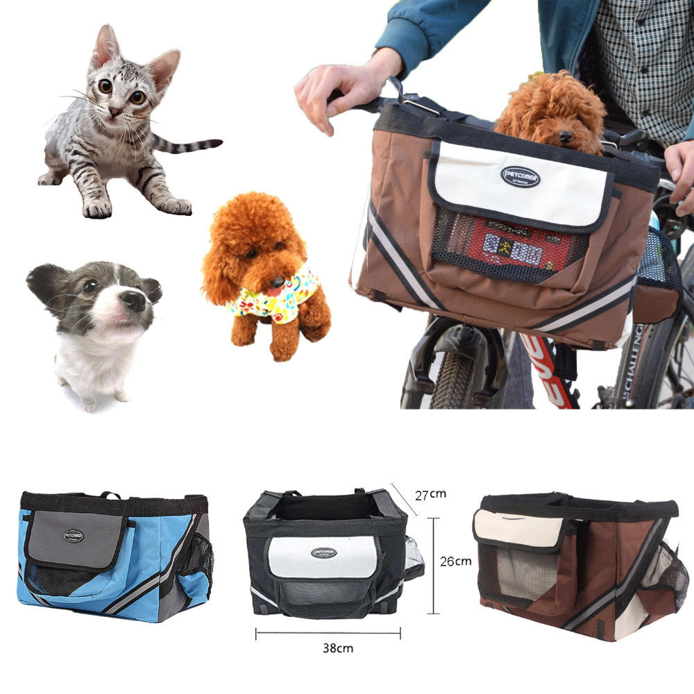 Portable Pet Dog Bicycle Carrier Bag Basket For Outdoor Travel Pet Bags Puppy Dog Cat Travel