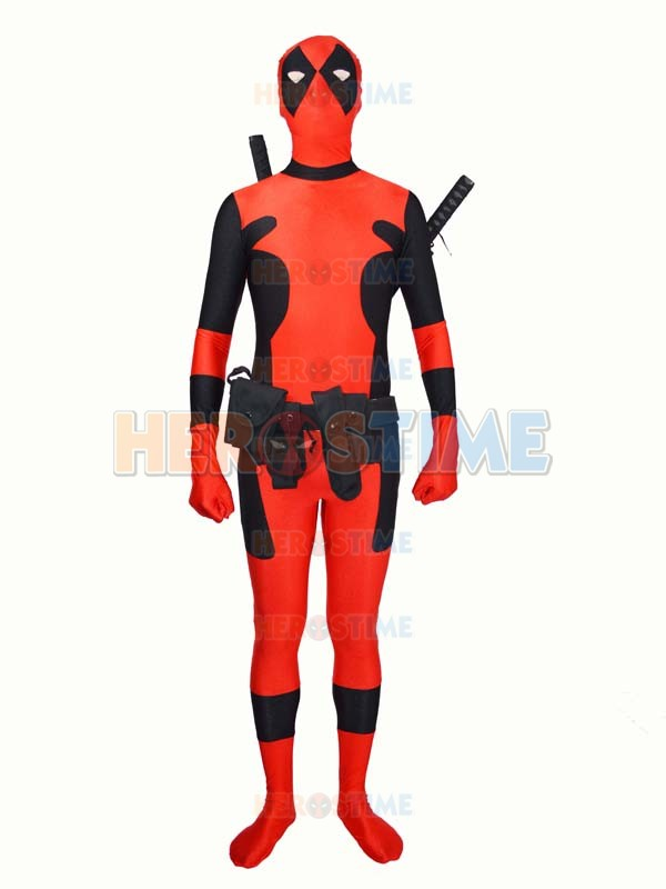 Deadpool Cosplay Costume Spandex Full Body Suit Xmen Lycra Zentai X-MEN Deadpool Superhero Costume, only bodysuit