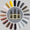 New Style Gray Nail Gel Polish Soak Off Gel 10ml Long Lasting LED UV Gel Colorful Polishes Beauty Nail Art Grey Colors Coat