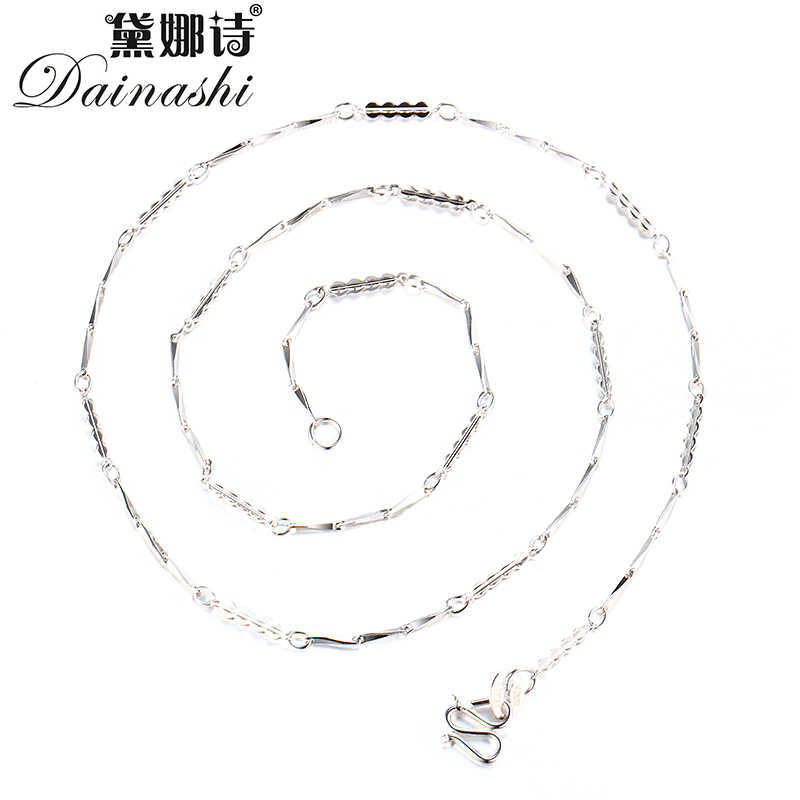 Wholesale 10pcs/Lot 45CM(18inch) Chain Necklace 925 Stamped Silver Color Adjustable Simple Chain Fashion Necklace Jewelry Gifts