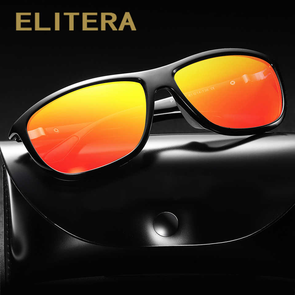 7210d1e5fe ... ELITERA Men Male Polarized Sunglasses Driving Vintage Square Frame  Goggles UV400 100% UV Protection Sun ...