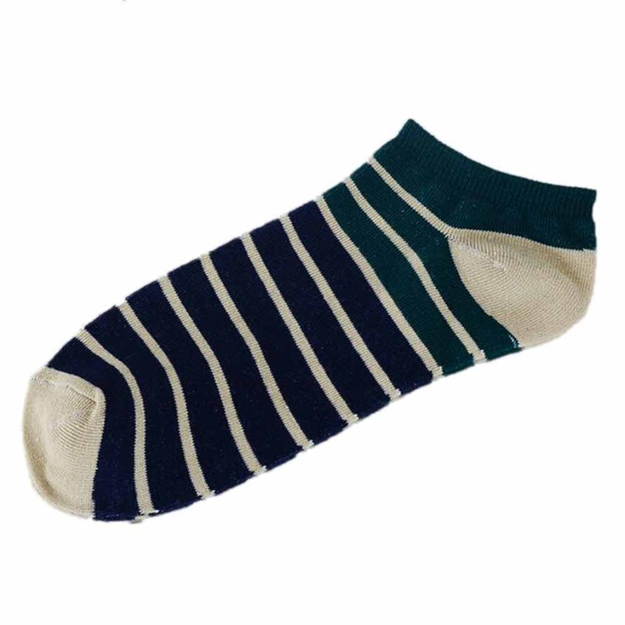 snowsong # 5003  2018 Hot Sell 1Pair Unisex Comfortable Stripe Cotton Sock Slippers Short  Ankle Soft Socks  freeshipping