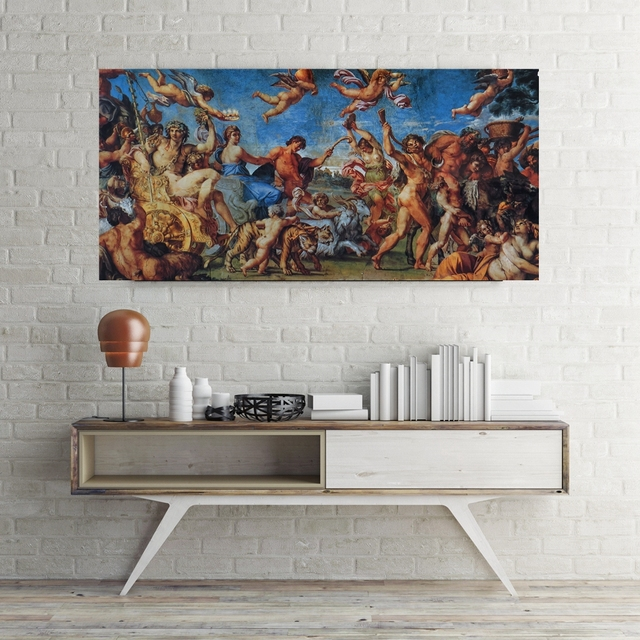 The Ancient Greek Myth Painting Canvas Print Cupid Wall Art Artwork Picture  For Dining Room Wall