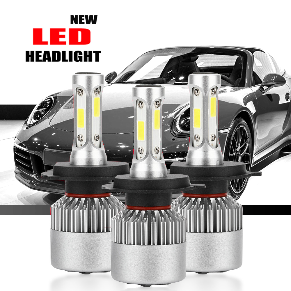 40W Auto Light S2 New <font><b>LED</b></font> Car Headlight with 3 Sides Light 10000LM <font><b>Cree</b></font> Lamp H1 H3 H4 H7 H11 H13 H27 9004 9005 9006 <font><b>HB4</b></font> 9007 HB5 image