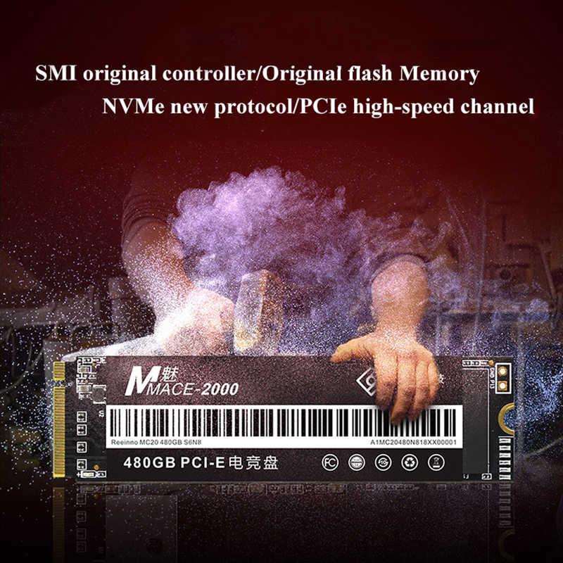 Reeinno Mace2000 240GB 256GB 480GB SSD M.2 NVMe PCIe 2280 Flash 3D NAND 1,8 GB/s velocidad súper sólido -Unidad de Estado para ordenador portátil de escritorio