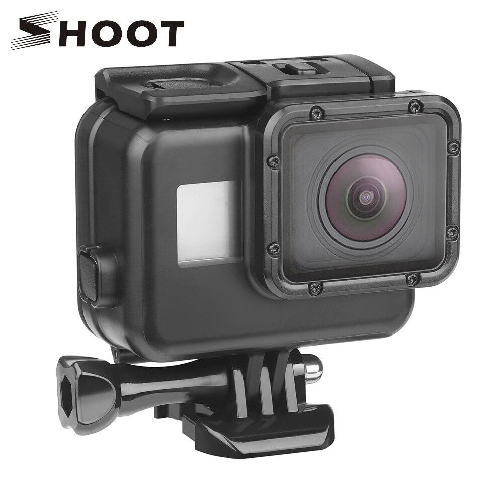 SCHIEßEN 45 mt Tauchen Wasserdicht Fall für GoPro Hero 7 6 5 Schwarz Action Kamera Unterwasser Gehäuse Fall für Gehen pro Hero 6 5 Zubehör