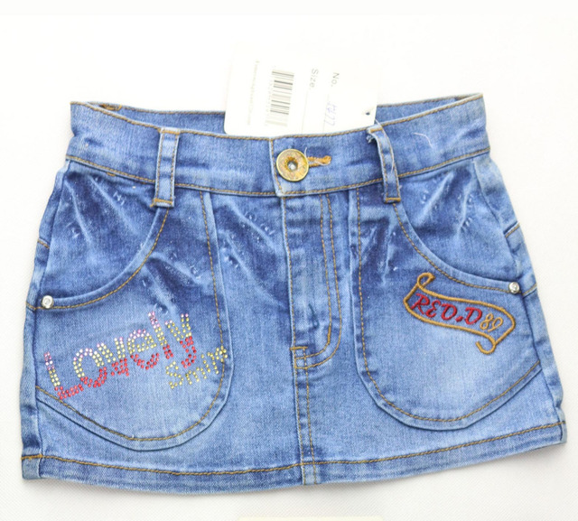 9966be8d2a Kid jean skirt girl children's denim skirt letters embroidered straight  skirt Free shipping ! 2015 (MH 5477) Only 1 piece
