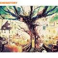CHENISTORY Безрамное дерево мечты пейзаж DIY Набор для рисования по номерам Краска на холсте каллиграфия для домашнего декора 40x50