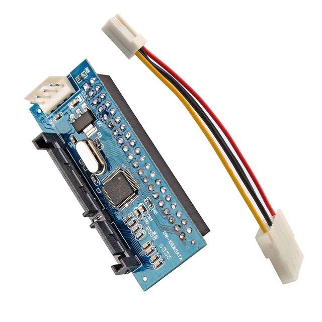 New 7+15p 22pin SATA male to IDE PATA 40Pin Female JM20330 adapter SATA-IDE card #79965