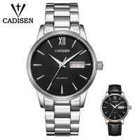 CADISEN mężczyźni zestaw zegarków automatyczne mechaniczne prezent pas NH36A maszyna rdzeń data Fashione luksusowej marki 5ATM wodoodporny zegar