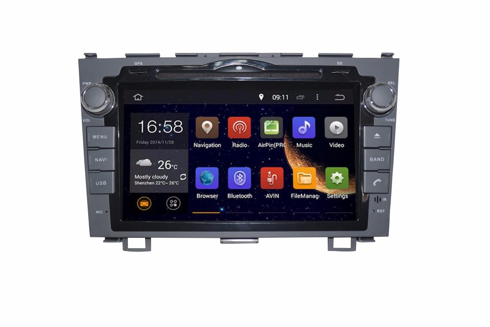 ROM 32 г Новинка! Android 6.0 2 DIN Восьмиядерный автомобильный DVD-Video GPS Navi для Honda CRV 2006-2011 емкостный экран 1024*600 + WiFi + BT