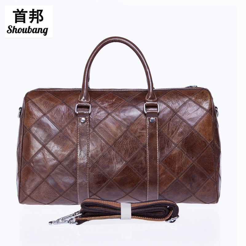 Luggage Travel Duffle Bags Mulitifunction Shoulder Bags Genuine Leather Bag Men Leather Handbag Men Travel Bag Suitcase luggage