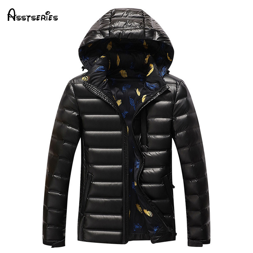 2018 New Casual Afs jeep Brand White Duck Down Jacket Fashion Men Autumn Winter Outwear Warm Coat D263