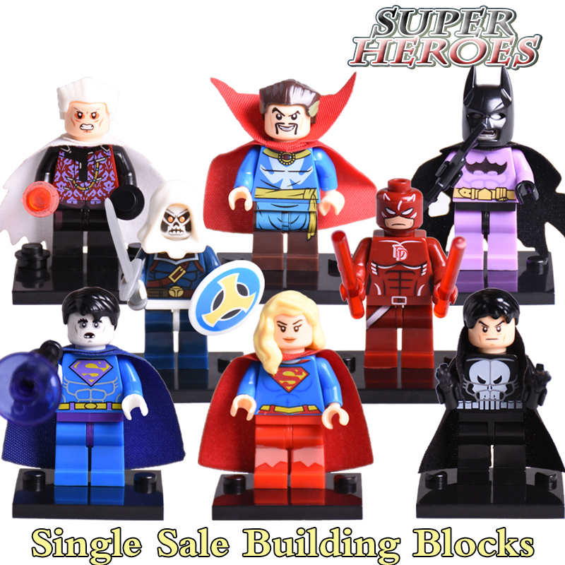 Building Blocks Doctor Strange Daredevil Taskmaster Bizarro diy figures Super Heroes Avengers Bricks Kids Toys Hobbies DIY Gift building blocks pg966 the twelfth doctor idea021 doctor who set 21304 super hero action bricks kids diy educational toys hobbies
