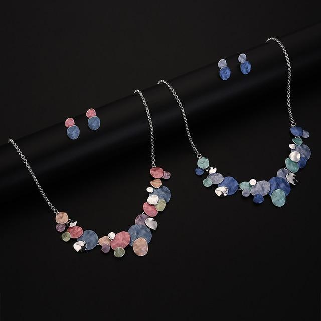 Unique Design Circular Geometric Jewelry set 4