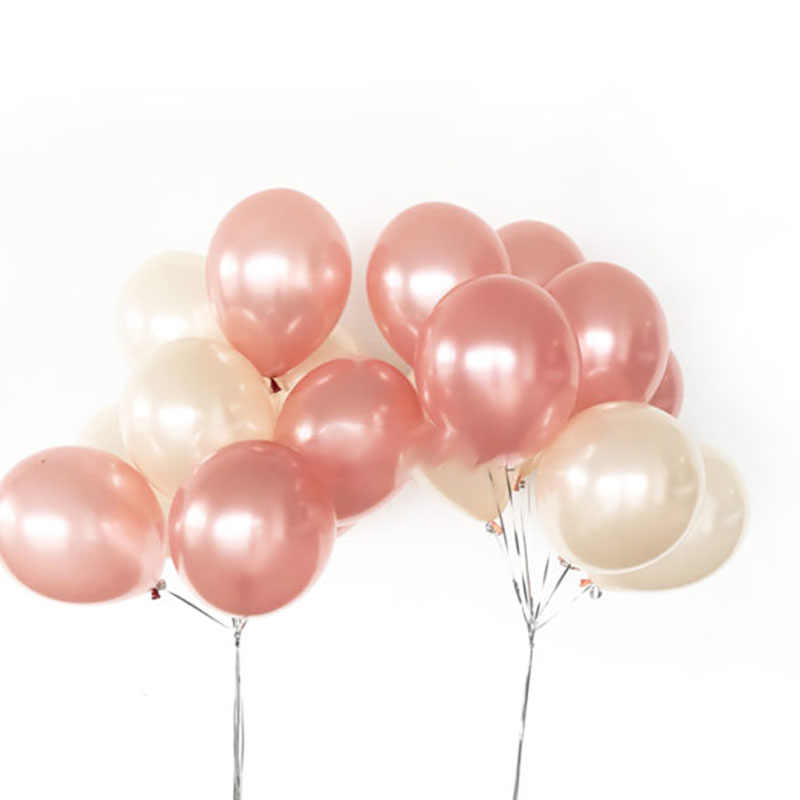 20pcs 12inch Latex Helium Balloon Bouquet Rose Gold&Peach Helium Balloons decoration birthday Happy Birthday Party Supplies Bal