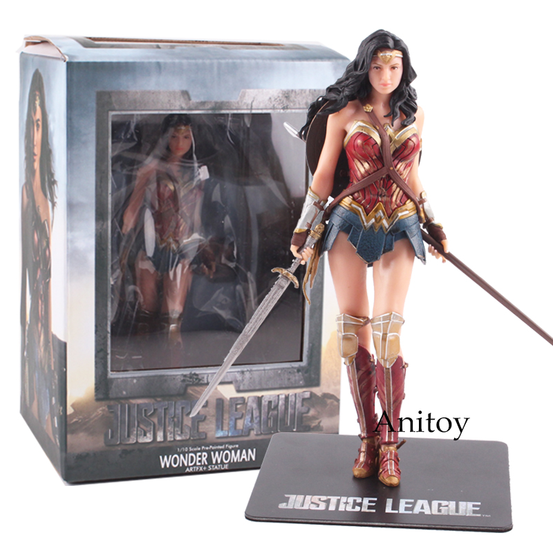 Super-Heros jouets Superman Batman Wonder Woman Action Figure PVC Collectible Toy Gift 17.5~18cm heros 40 деталей